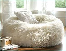 cool fur bean bag chair eastsacflorist home and design inside brilliant in addition to lovely faux