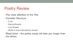 poetry prompt review poetry review pay close attention to the  2 poetry