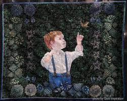 Quilt Inspiration: Highlights of the 2017 Houston International ... & I hand-painted [Sawyer's] portrait and the stenciled border on cotton batik  fabric. Free-motion quilting and hand embroidery add a bit of depth. Adamdwight.com