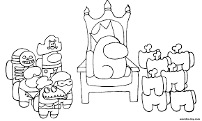 Among us halloween hats and christmas hats can be yours, and all it takes is a little fiddling how to get among us's halloween hats and christmas hats by making the game think you're playing on please refresh the page and try again. Among Us Coloring Pages Print For Free 100 Coloring Pages