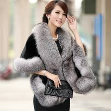 Luxury Elegant <b>Womens</b> Faux Mink Cashmere Winter Warm Fur ...