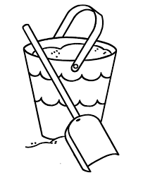 Small Picture Summer Bucket and Spade Colouring Page Summer Bucket and Spade