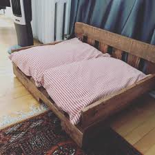 diy recycled pallet dog beds plans ideas with pallets making bed wo