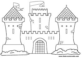 Coloriage Chateau Fort Colorier Dessin Imprimer