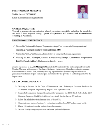 Objectives In Resume For Ojt Objective Forng Resume Mechanical Career Technical Examples 24
