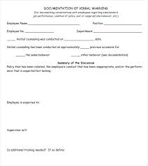 Employee Warning Form Free Verbal Warning Letter Template Free Best Of Best S Of Employee