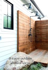 how to build an outdoor shower 0080 wy leving n hot water diy without running drain how to build an outdoor shower diy