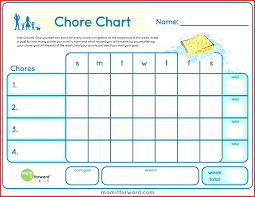 Printable Family Chore Chart Template Printable Printable Family Chore Charts Template