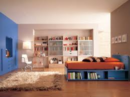 Orange And Blue Bedroom Casual Blue And Orange Bedroom Design And Decoration Using Large