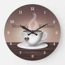 coffee latte kitchen clock zazzle co uk