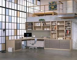 home office bookshelf. industrial home office with builtin bookshelf concrete floors loft custom
