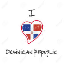 Dominican Flag Design Dominican Flag Patriotic T Shirt Design Heart Shaped National