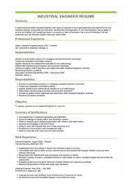 Industrial Engineer Resume Industrial Engineer Resume Great Sample Resume