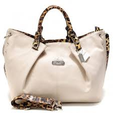 Coach Madison Leopard Large White Satchels ACP