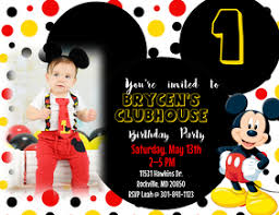 mickey mouse party invitation 210 mickey mouse birthday invite customizable design