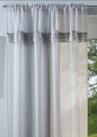 savannah grey net voile slot top