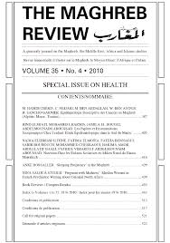 Maghreb Review - Special Issues