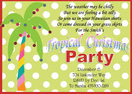 christmas holiday tropical party invitations  tropical christmas holiday party invitations polka dot palm tree