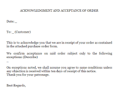 Acknowledgement Of Letter Received 4 Acknowledgment Of Order Letters Find Word Letters
