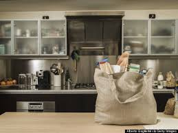 Kitchen counter with food Plate Food Kitchen Counter How Grocery Stores Restaurants Your Office And Even Your Kitchen
