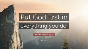 Image result for put god first