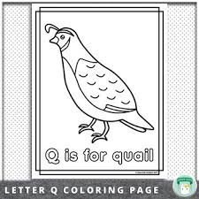 Create your own flash cards: Animal Alphabet Coloring Pages Q Is For Quail By Mallow World Tpt