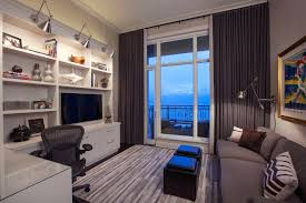 office sleeper. Home Office With Sleeper Sofa Condo Contemporary Roman Shades .