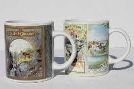 Price and other details may vary based on size and color. Collectible John Deere Tractor Mugs Gibson Ceramic Coffee Cups Lot
