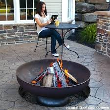outdoor wood burning fire pit the patriot wood burning fire bowl natural steel outdoor fireplaces fire
