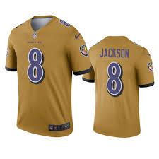 Men's Gold Inverted Ravens Custom Jersey Legend