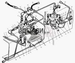 Трубопроводы к тормозным кранам МАЗ 5429 МАЗ 504В 125