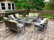 wicker patio furniture sets. 8 PC Outdoor Rattan Wicker Patio Furniture Set Sectional Garden Cushioned  Chair Wicker Patio Furniture Sets N