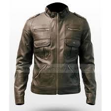 stylish luxury brown mens slim fitted leather jacket zoom stylish