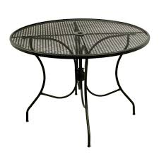 glenbrook black 42 in round mesh patio dining table