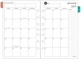 At A Glance Monthly Planner Refill January 2019 December 2019