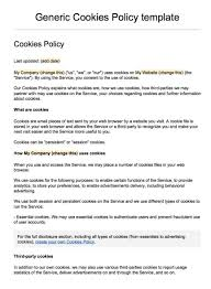 Privacy Policy Sample Template Sample Cookies Policy Template TermsFeed 9