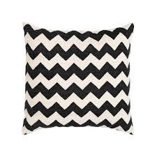 black  white zig zag amagansett pillow  madeline weinrib