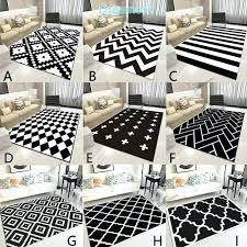 nordic geometric black and white area rugs living room bedroom white area rugs black white area white area rugs