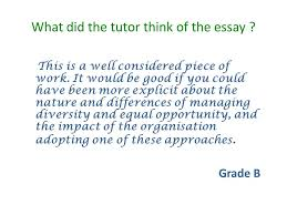 target the essay question ppt what did the tutor think of the essay