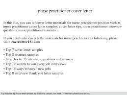 Nurse Practitioner Cover Letter Sample Resume Cover Letter Nurse Practitioner For Nurses Nursing Template