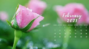 Monthly calendars for february 2021 in word, excel and pdf file formats. February 2021 Desktop Calendar Wallpaper
