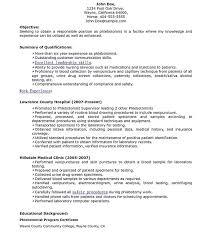 Resume Templates Phlebotomy Job Sample Technician Samples Velvet