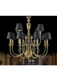 american classic design brass chandelier with black chandelier mini shade high quality item ws 1960