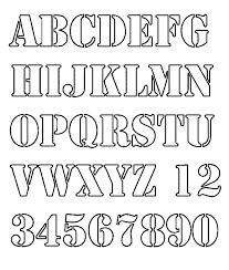 Custom Letter Art Template Stunning Stencils For Letters Goalgoodwinmetalsco