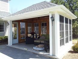 standalone screen porch 3 seasons room w remote rollup door season e56