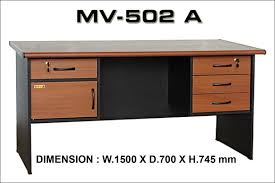 office desk pictures. Office Desk VIP MV.502A (W150xD70xH73 Cm) Pictures