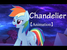 animation pmv rainbow chandelier