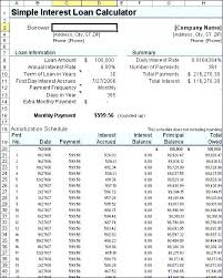Student Loan Amortization Schedule Excel Payment Planner Multiple