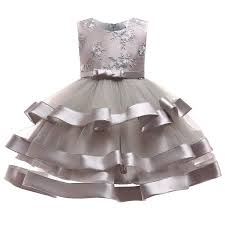 OBEEII Flower Girls <b>Princess Dress</b> Sleeveless <b>Embroidery</b> ...