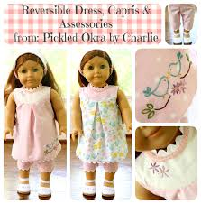 Free Printable American Girl Doll Clothes Patterns Mesmerizing Free Pattern For An 48 American Girl Doll Reversible Dress